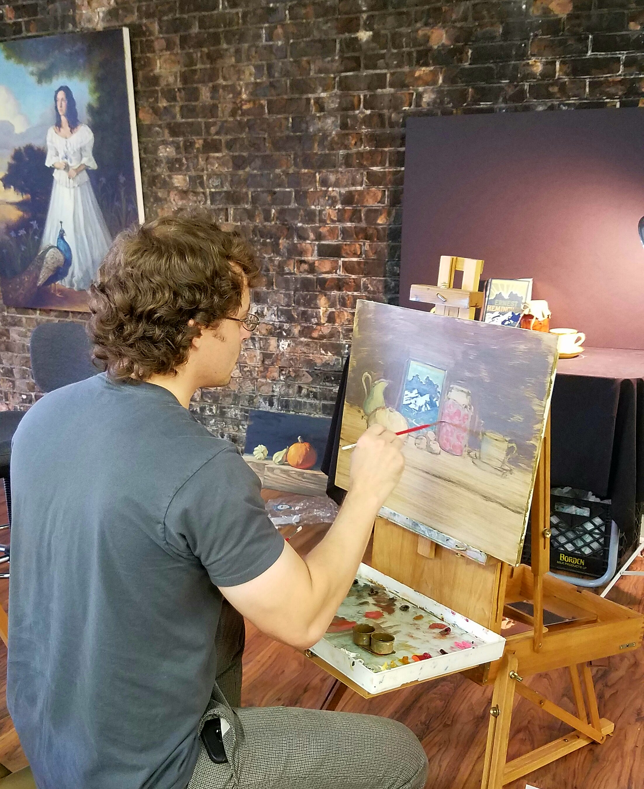 Intermediate to advanced oil painting class with jeromy for Canvas painting classes